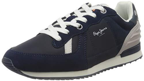 Pepe Jeans Tinker WER, Zapatillas para Hombre, Azul Marino 595, 45 EU