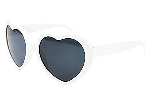 gafas de sol (blancas) - corazón - mujer - estilo lolita - polarized uv400