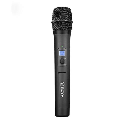 BOYA WHM8 Pro 48-Kanaals UHF Draadloze Dynamische Handheld Cardioïde Microfoon zender voor BY-WM8 Pro Serie Microfoon Systeem voor Interview Presentatie Talk Show Spraak