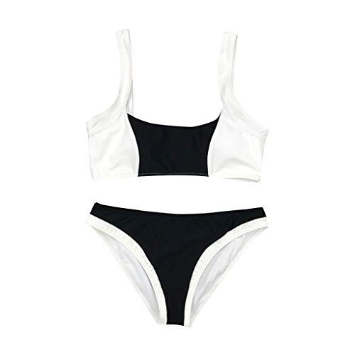 TWIFER Damen Push Up Bikinis Gepolsterter BH Beach Bikini Set Druck Badeanzug Bademode(a-Schwarz,M)
