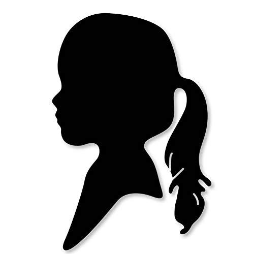 DIY sjabloon om zelf te maken. Het portrait van staal van het meisje, het metaal snijdt en de papieren decoratievormen afsterft.