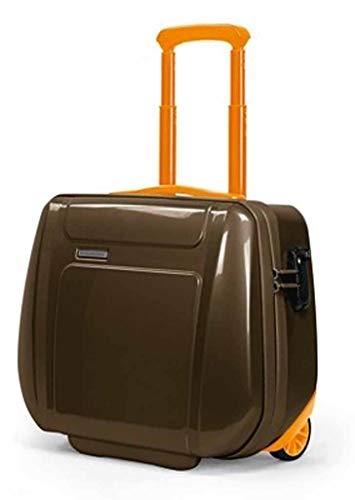 Cartella Piquadro Odissey marrone/arancione porta computer con trolley system e lucchetto TSA CA2334OY/MAR