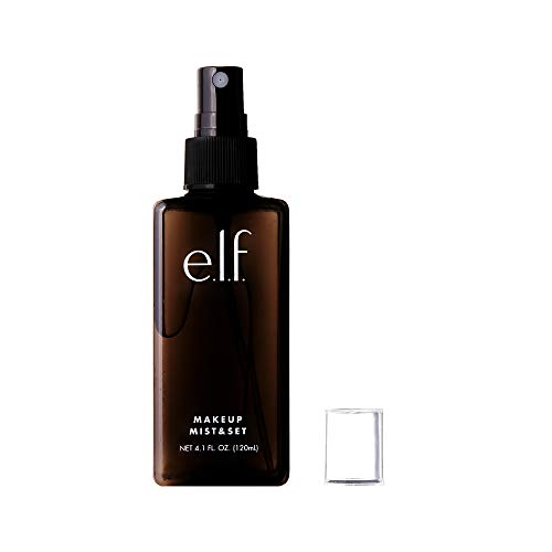 e.l.f. Makeup Mist & Set - Large Lightweight, Long Lasting, All-Day Wear Revitalizes, Refreshes, Hydrates, Soothes Infused with Aloe, Green Tea and Cucumber 4.1 Fl Oz