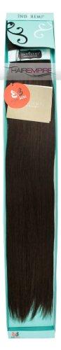"""Bobbi Boss Indi Remi Human Hair Extension Weave 24"""" Natural Yaki #2 (Dark Brown)"""