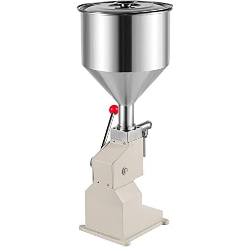 VEVOR Máquina de Llenado Manual de Acero Inoxidable con Más Nuevo Diseño 5~50ml Máquina de Llenado de Pasta Neumática de Acero Inoxidable Manual Máquina de Llenado de Acero Inoxidable Pasta
