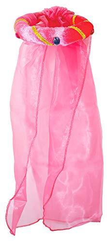 Mittelalter Haarband Rosalin für Mädchen zum Prinzessin oder Burgfräulein Kostüm - Pink