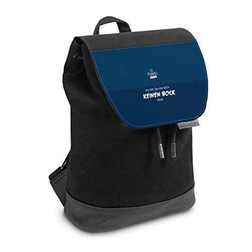Rucksack mit Lasche 30 cm x 20 cm Daypack für Damen & Herren Tasche mit Design Pummeleinhorn Sprüche Friends