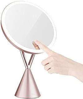 SYDDP Bathroom Vanity Mirrors Freestanding Cosmetic Mirror 5X Zoom Make Up Mirror Pedestal Table Mirror for Bathroom Bedroom Shaving Mirror Cosmetic Vanity Mirror Makeup Mirror