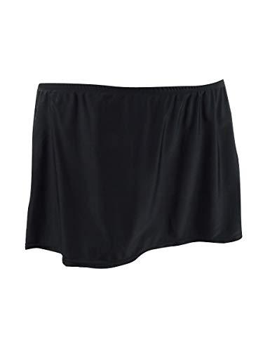 Island Escape Womens Plus Skirt Fold Over Swim Bottom Separates Black 18W