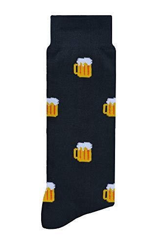 Calcetines Divertidos | Skunk Socks - Calcetines de Vestir o Casuales para Uso Diario | Calcetines de Hombre y Mujer - Cervezas
