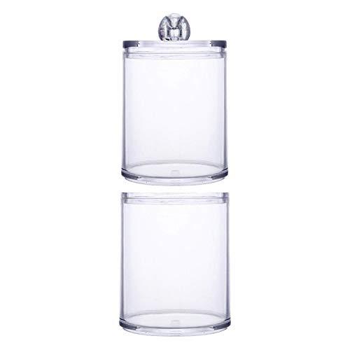 Generic Caja de almacenamiento de acrílico transparente con tapa para almohadillas de algodón - Estilo 2