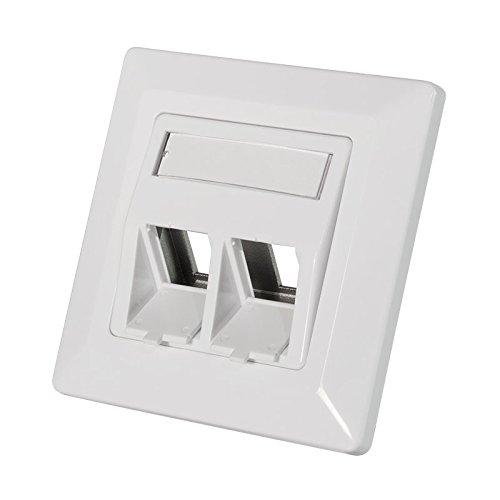 Faconet® Keystone Unterputzdose Leerdose für 2 Keystone Buchsen zB R45 Lan Ethernet, HDMI, Cinch, USB, KOAX Einbaubuchsen