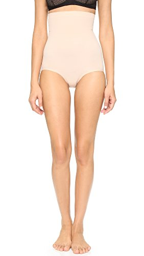 SPANX Shapewear for Women Tummy Control High-Waisted Power Panties (Regular and Plus Size, Soft Nude, MD)