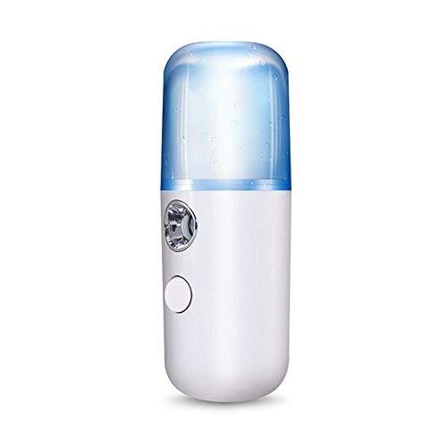 Liuchfe 30ml vapeur, vapeur visage, vapeur Inhaler Mini visage Pulvérisateur Atomiseur facial steamer Humidifier Hydratante Anti-âge rides Femme Beauté Soin de la peau (Color : A)