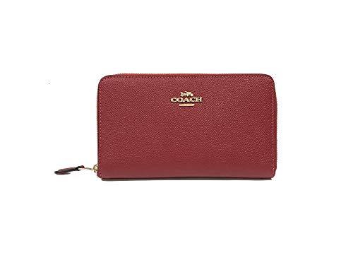 Coach Crossgrain Leather Medium Zip Around Wallet (IM/1941 Red)