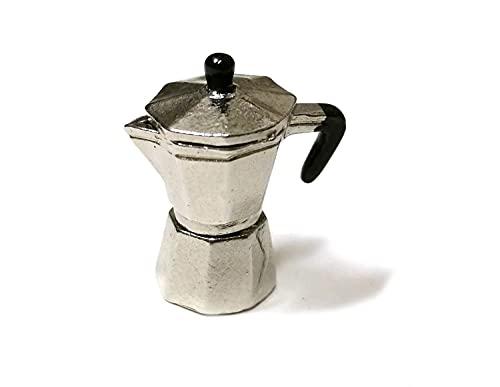 Miniblings Puppenstube Zubehör Espresso Kanne Mokka Kaffeekanne Puppenhaus Kaffemaschine