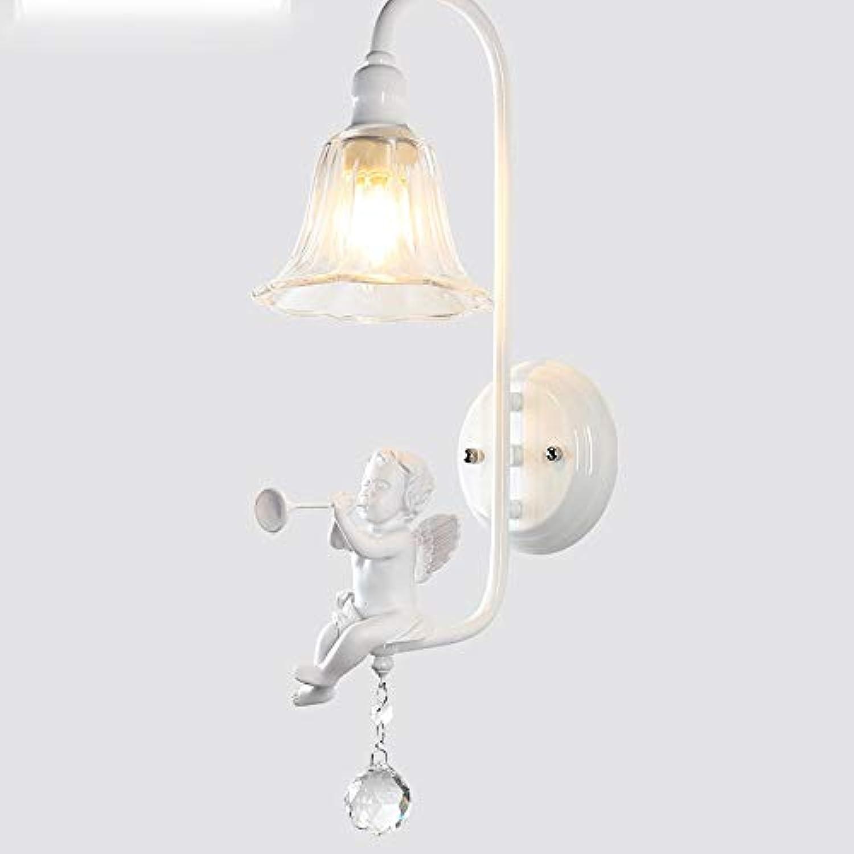 Nordic Kristall Wandleuchte Engel Nachttischlampe Schmiedeeisen Wei Dekorative Wandleuchten Schlafzimmer Wohnzimmer Studie Restaurant Cafe Lampen E14 Lampe (Design   B)