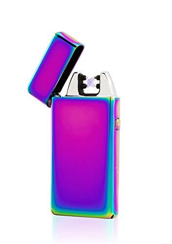 TESLA Lighter TESLA Lighter T05 Lichtbogen Feuerzeug, Plasma Single-Arc, elektronisch wiederaufladbar, aufladbar mit Strom per USB, ohne Gas und Benzin, mit Ladekabel, in edler Geschenkverpackung Blau Blau