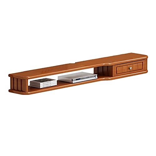 Bxzzj Estantes De Audio Y Video, Madera De Pino, Consola Multimedia Montada En La Pared, Estante Flotante para TV para Muebles, Estante para Decodificador (31.4 '' / 39.3 '') (Size : 80cm)
