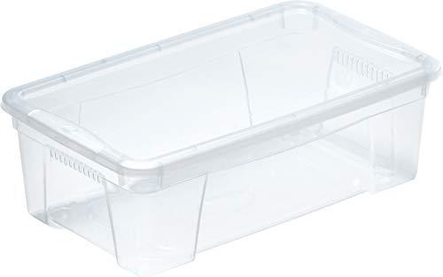 M Home Caja de Almacenaje K2 4.5 l, Translúcido, 5.7 litros
