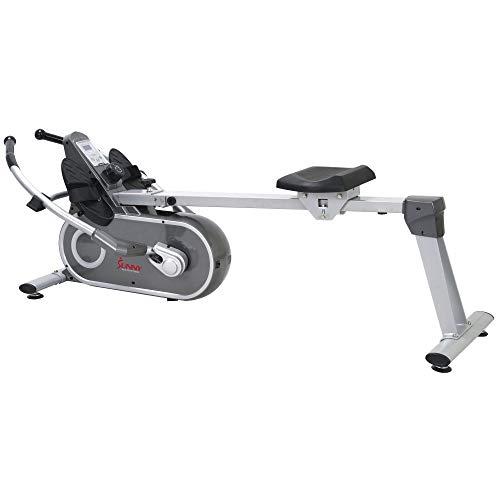 Sunny Health & Fitness SF-RW5624 Full Motion Magnetic Rowing Machine Rower w/ LCD Monitor