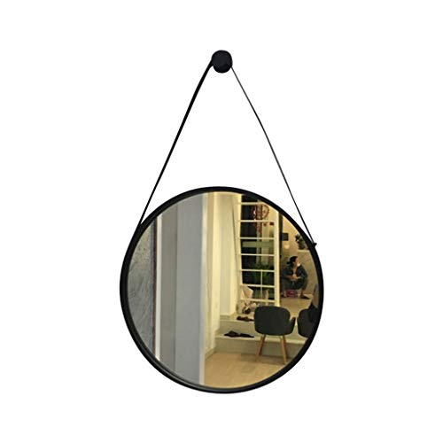 Miroir Simple Maquillage Miroir Tenture Décoration HD Vanity Mirror Style Nordique Princesse Miroir Verre Miroir (Color : Gold, Size : 70 * 70CM)