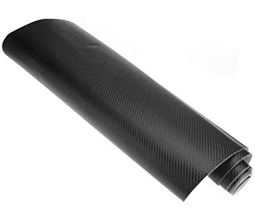 Rollo de vinilo de fibra de carbono autoadhesivo 3D para pintar al coche, 60 cm x 2 m