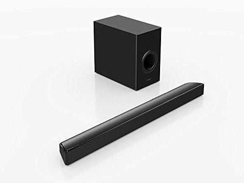Panasonic SC-HTB488EGK Soundbar, Surround 2.1 ch, Subwoofer Wireless 16 cm Cono, 200 W, Bluetooth, Digital Audio, HDMI CEC, Possibilità di Montaggio a Parete, Telecomando, Nero
