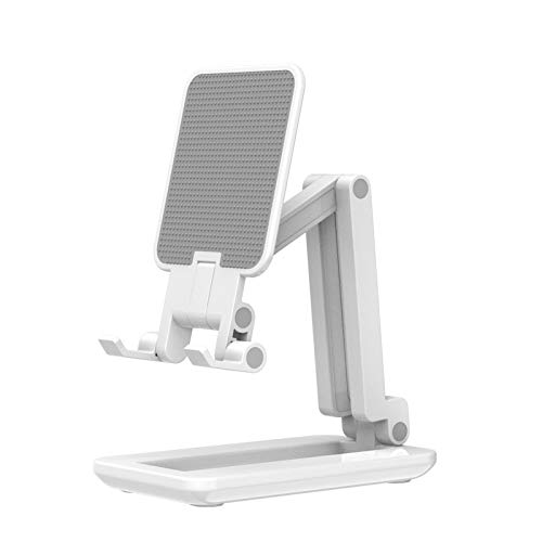 Andoer Foldable Smartphone Stand Tablet Bracket Phone Holder for Live Streaming Online Video Chatting Singing, Max.25.5cm