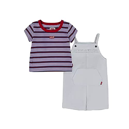 Levi's Kids SHORTALLS et TEE SHIRT D092 Pantalones cortos de vestir blanco para Bebé-Niñas