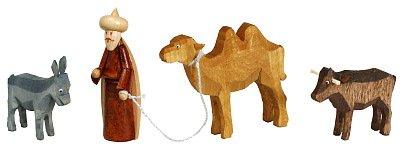 Rudolphs Schatzkiste Weihnachtsdekoration Kameltreiber Höhe 6,5cm NEU Weihnachten Christi Geburt Holz Seiffen Erzgebirge Holzdekoration Holzkunst Dekoration Figuren