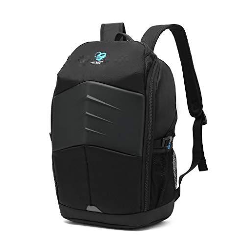 "Deep Gaming DG-BAG15-2N -Mochila para portátil gamer 15.6"" (50cm x 39cm) con bolsillos de malla laterales, compartimento principal con cremallera y bolsillos para accesorios. Negro, impermeable."