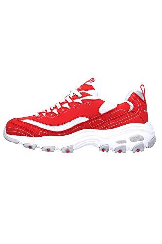 Skechers D ́Lites Biggest Fan - Zapatillas para mujer, color rojo