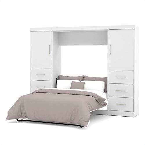 Best Deals! Atlin Designs 109 Full Wall Bed Set in White