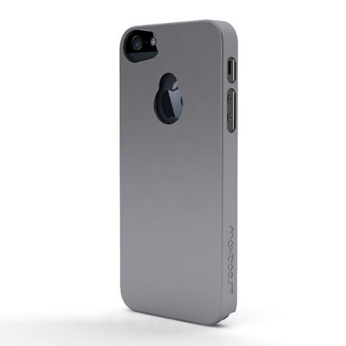 Maxboost iPhone 5S Case / iPhone 5 Case [Fusion Snap-On Case Series -Grey] Premium Coated Protective Hard Case for iPhone 5S / iPhone 5 (Fits All Versions of iPhone 5S & iPhone 5, AT&T, Verizon, Sprint)