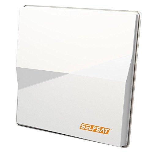 Selfsat H50M4 Quad Flachantenne für gleichzeitigen Empfang (Vier Teilnehmer) weiß
