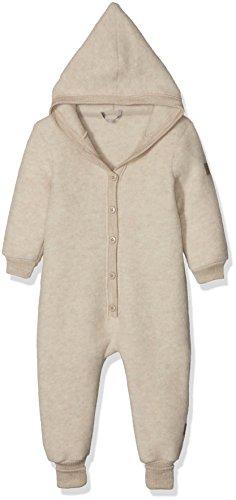 mikk-line mikk-line Unisex Baby Wollanzug mit Kapuze Spieler, Beige (Melange Offwhite 429), 68
