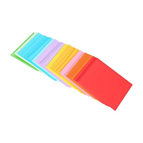 Papel de origami cuadrado, hojas de colores Kit de papel de origami Papel de origami Estrellas de origami para estrellas para niños para hacer tarjetas de menú Memo