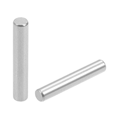 uxcell 50Pcs 3mm x 18mm Dowel Pin 304 Stainless Steel Wood Bunk Bed Dowel Pins Shelf Pegs Support Shelves Silver Tone
