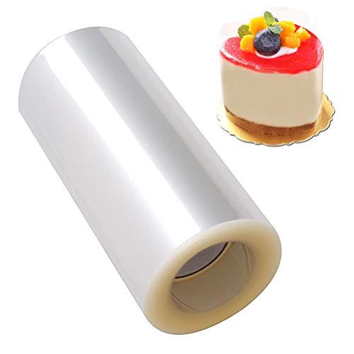 nuosen 10cm x 10m Transparent Rolle Kuchen halsbänder, Tortenrandfolie Kuchen Kragen für Tortendekorationen Mousse, Kuchen