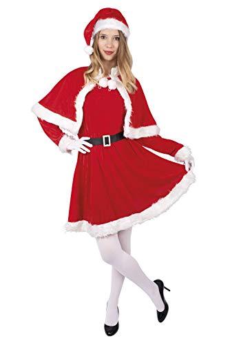 Ptit Clown - 12494 - Costume Adulte Mère Noël - Velours - Ta