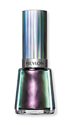 Revlon Nail Enamel, Chip Resistant Nail Polish, Glossy Shine Finish, in Black/Grey, 120 Amethyst Smoke, 0.5 oz
