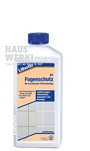 Lithofin KF Fugenreiniger 500 ml - sehr ergiebig - intensiv wirkend - mildalkalisch - Reiniger für Fugen in Küche & Bad