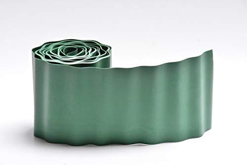 Zaun-Nagel Rasenkante Rollkante 15 cm x 9 m grün Abschlusskante Laubfänger Beetkante