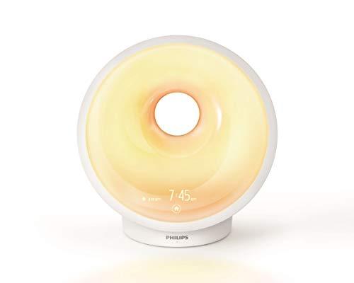 Philips HF3650/01 Sleep und Wake-up Light (Einschlafhilfe, Natürlich aufwachen, Sonnenauf- und untergangssimulation, Nachtlicht, Entspannungsübung)