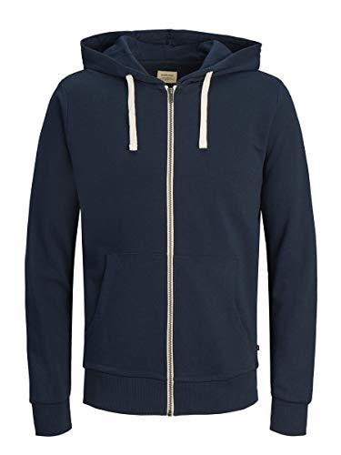 Jack & Jones Jjeholmen Sweat Zip Hood Noos Sudadera, Azul (Navy Blazer), X-Large para Hombre