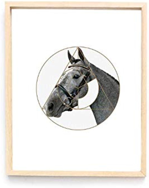 Moonya Acrílico nórdico acrílico Transparente Pintura Decorativa Animal Decorativo (Talla   M)