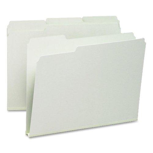 Smead Pressboard File Folder, 1/3-Cut Tab, 1' Expansion, Letter Size, Gray/Green, 25 per Box (13230)