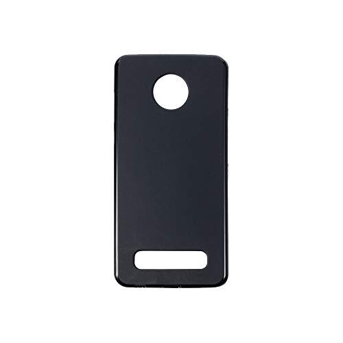 Capa para Motorola Moto Z4 Play, capa traseira de TPU macia resistente a arranhões à prova de choque de borracha de gel de silicone anti-impressões digitais Capa protetora de corpo inteiro para Motorola Moto Z4 Play (preta)