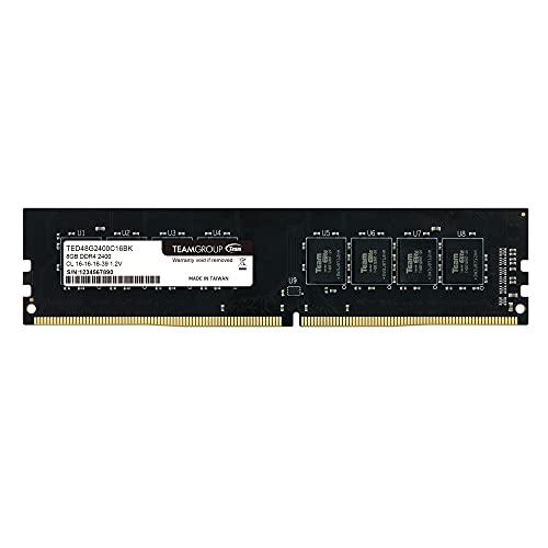 Team Group TED416G2400C1601 Memoria RAM da 16 GB, DDR4, 2400 MHz, CL16, Nero